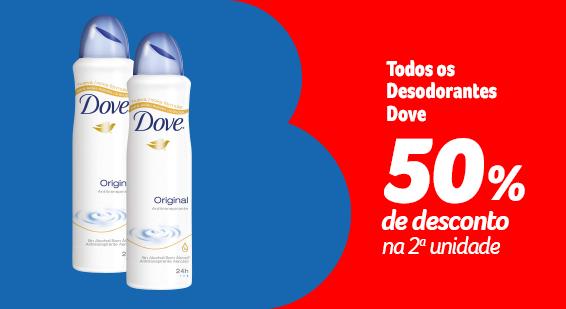 Festival da Beleza - Desodorantes Dove com 50% na 2ª - Destaque - 20.09